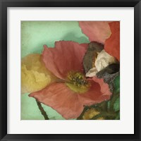 Framed Aquatic Poppies I