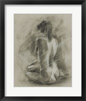 Charcoal Figure Study II Framed Print