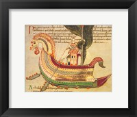 Framed Viking Dragon Ship