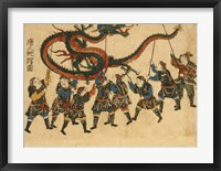 Framed Chinese Dragon Dance