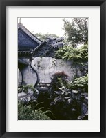 Framed Garden with Dragon on Temple Wall Shanghai, China