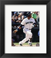 Framed Robinson Cano Running For Plate
