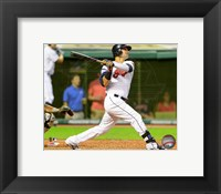 Framed Nick Swisher 2014 Batting Action