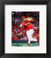 Framed David Freese 2014 Action