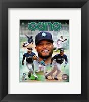 Framed Robinson Cano 2014 Portrait Plus