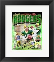 Framed Aaron Rodgers 2014 Portrait Plus