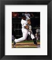 Framed Jose Abreu 2014 Action Hitting Baseball