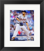 Framed David Price 2014 Action