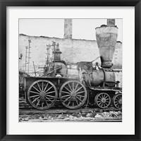 Framed Richmond, Va. Damaged locomotives