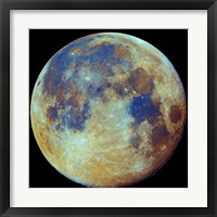Framed Colored moon, (geological differences)