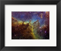 Framed Part of the IC1805 (Heart nebula) in Cassiopeia