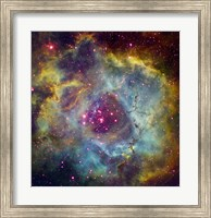 Framed Rosette nebula (NGC 2244) in Monoceros