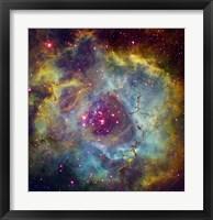 Framed Rosette nebula (NGC 2244) in Monoceros