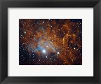 Framed Flaming Star Nebula in Auriga