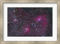 Framed Area of Flaming Star Nebula and complex in Auriga