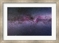 Framed northern Milky Way from Cygnus to Cassiopeia and Perseus