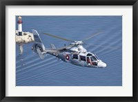 Framed Bulgarian Navy Eurocopter AS-565MB Panther over Black Sea