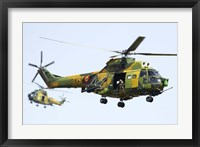 Framed Romanian Air Force IAR-330L SOCAT helicopters