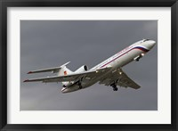 Framed Tupolev Tu-154M in flight over Bulgaria