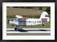 Framed Antonov An-2 taking off from Primorsko Airport, Bulgaria