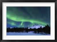 Framed Aurora Borealis over Nova Mountain Wilderness, Norway