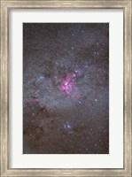 Framed Eta Carinae Nebula area of the southern Milky Way