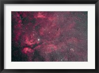 Framed Gamma Cygni nebulosity complex with the Crescent Nebula