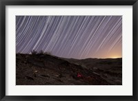 Framed Star trails and rock art in the central province of Iran