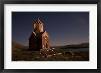 Framed Starry night sky above Dzordza church, Iran