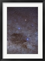 Framed Southern Cross and Coalsack Nebula in Crux