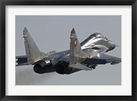 Framed Bulgarian Air Force MiG-29 aircraft