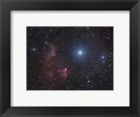 Framed Variable star Gamma Cassiopeiae, with associated emission and reflection nebulae