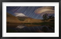 Framed Star trails above Mount Damavand, Iran