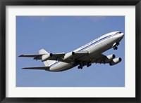 Framed Aeroflot Ilyushin Il-86 airliner taking off from Bulgaria
