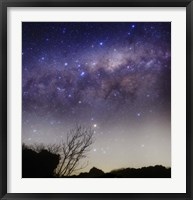 Framed Milky Way above a rural landscape in San Pedro, Argentina
