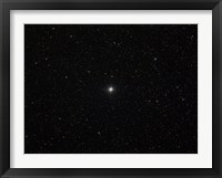 Framed double star Albireo in the constellation Cygnus