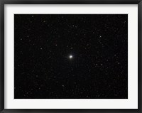 Framed double star Albireo in the constellation Cygnus