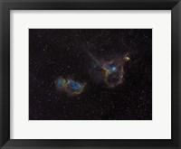 Framed Heart and Soul Nebulae