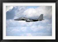 Framed United States Air Force F-15 Strike Eagle in flight