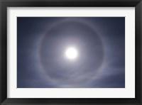 Framed Halo around full moon taken near Gleichen, Alberta, Canada