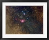 Framed Widefield view of nebulae in Sagittarius