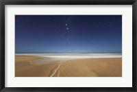 Framed Alpha and Beta Centauri seen from the beach in Miramar, Argentina