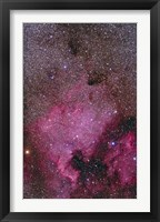 Framed NGC 7000 and the Pelican Nebula