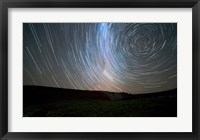 Framed Star trails around the south celestial pole, Somuncura, Argentina