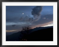 Framed Moon and Venus conjunction above the village of Gazorkhan, Iran