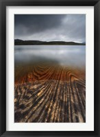 Framed Geology lines in Sandvannet Lake, Nordland County, Norway