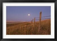 Framed Harvest Moon down the road, Gleichen, Alberta, Canada