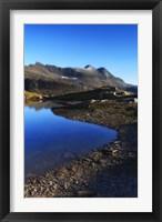 Framed Skittendalen mountain peaks in Troms County, Norway