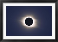Framed Total eclipse of Sun