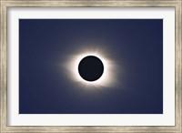 Framed Total eclipse of Sun
